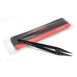 Pince à tête céramique Coil Master Ceramic Tweezers SS Tweezers noire