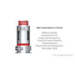 Pack de 5 résistances RGC Conical Mesh 0.17 ohm - Smoktech
